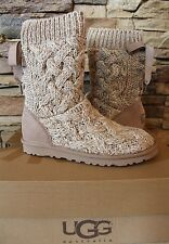 NIB UGG Australia ISLA Bow Sweater and Suede Boot US 7 EU 38 UK 5.5 Oatmeal