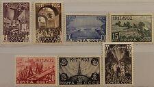 RUSSIA SOWJETUNION 1932 414-20 472-78 15 Jahrestag Oktoberrevolution Szenen MLH