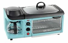 Breakfast Station Family Size Oven Toaster Egg Grill Skillet Coffee Maker 3 In 1