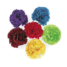12 Fiesta Cinco De Mayo Mariachi Mexican Hispanic CARNATION FLOWER HAIR CLIPS