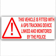 2 x Vehicle,Van,Lorry GPS Alarm-Tracker Security Stickers-Large 200mm Signs