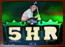 Stan Musial 2007 Topps Triple Threads 6/18 Game Used Bat Jersey 5HR Card 1/1