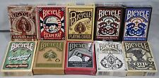 10 Pack Bicycle Playing Cards Decks Rare Lot Civil War Vintage Archangels Dragon