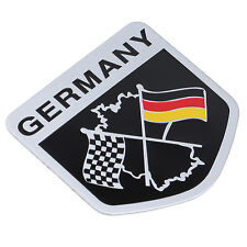 Racing Car Auto German Flag Emblem Grille Badge Decal Sticker For BMW VW Benz