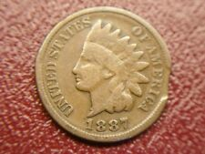 "1887 INDIAN HEAD CENT WITH ""CLIP"" NEAT ERROR FOR YOUR COLLECTION"
