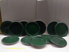 Wholesale lots of 12 paper Eneraid Green plates ( celebrations )