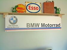 BMW Motorrad workshop banner sign. F 700 GS, S 1000 RR, R NINE T Racer, G310 R