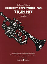 Concert Repertoire for Trumpet with Piano Sheet Music Book