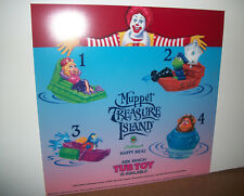96 Muppet Treasure Island McDonalds Happy Meal Translite Sign Display Mcdonald's