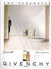 Publicité Advertising 1984 Parfum Givenchy III