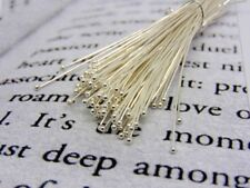 100 x 18mm Silver Plated Ball Head Pins  Jewellery Craft Findings R166