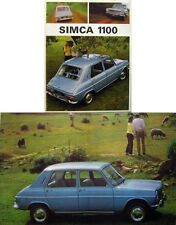 Simca 1100 1967/68 Original UK Sales Brochure