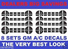 Chevrolet AC Button Stickers Gm Trucks Acadia Enclave Yukon Tahoe Avalanche