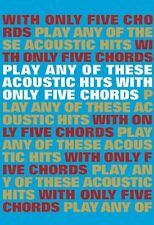 Play Acoustic Hits With Only 5 Chords Learn EASY Guitar Lyrics Music Book