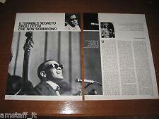 RAY CHARLES=ANNO 1963=RITAGLIO=CLIPPING=POSTER=FOTO=PHOTO=