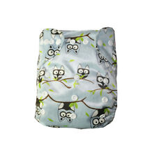 1 Alva Baby Bamboo Cloth Diaper + 1 4 Layers Bamboo Inserts All In One Size BM26