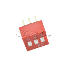 10PCS Slide Type Switch Module 2.54mm 3-Bit 3 Position Way DIP Red Pitch S
