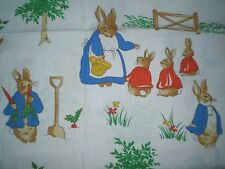 Large Vintage PETER RABBIT Fabric Remnant (61cm x 82cm)