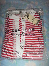 Brand New With Tag Korea Long Sleeve stripe blouse *M size *Free post