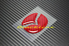 For Mazda 2 3 5 6 Steering Wheel Emblem RED Carbon Fiber Insert Decal 50mm Large