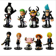 9pcs One Piece anime strong world  monkey d luffy chopper figure doll set