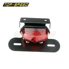 LED Tail Light License Plate Holder For Yamaha Dual Sport ATV Motorcycle RED TOP