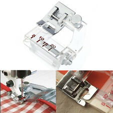 Domestic Sewing Machine Snap on Adjustable Bias Tape Binding Metal Foot Presser