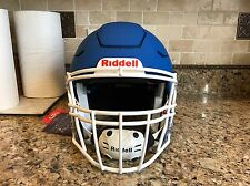 Riddell Revo SPEED FLEX Football Helmet Matte Blue w/ White Facemask Adult Large