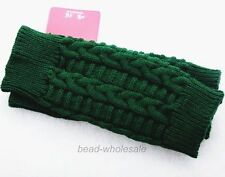 Fashion Women Knitted Fingerless Winter Gloves Unisex Soft Warm Mitten 7 Color
