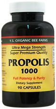 Y.S. Organic Bee Farm 1000 mg 90 cap Ultra Mega Strength Super Bee Propolis YS
