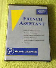 Vintage MicroTac Software French Assistant 5 1/4 Floppy Disks IBM -- NOS