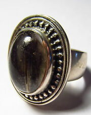Substantial Natural Moss Agate Sterling Silver Ring Size 11.0      AGR110