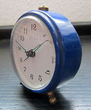 BLESSING WECKER analog Vintage Alarm Clock 1980er Jahre? West Germany blau
