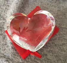 BACCARAT Paperweight Crystal Double Heart Scarce