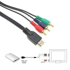 HDMI Male to 3 RCA Audio Video AV Component Cable Converter Adapter HDTV DVD LCD