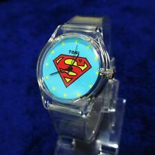 Hombre Y Mujer Moderno Superman Plástico Sport Pulsera Reloj De Pulsera GG