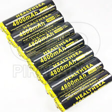 4 x LITHIUM ION PILE 3,7 V 4800 mAh Type 18650 Li - ion 65 x 18 mm BATTERIE ACCU