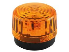 LAMPE GYROPHARE ECLAIRAGE STROBOSCOPE FLASH ORANGE 12V ø 100mm 10cm A 15 LED