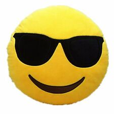 "USA SELLER Emoji Cool Sunglasses Stuffed Key Chain Plush Yellow 4"" inch Pillow"