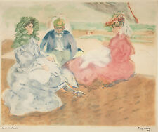 Jacques Villon Reproduction: Three Figures on the Beach - Fine Art Print