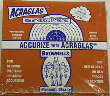 Brownells MFG #10001 ACRAGLAS  4oz Kit Stock Bedding Repairing Accurizing