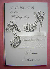 """Personalised Card For Bride/ Wife To Be On Wedding Day : """"Wedding Shoes"""""""