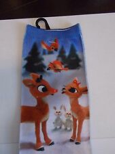 Rudolph The Red Nosed Reindeer Christmas Women's Crew Socks New