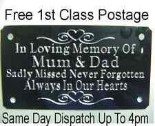 ** Metal Bench Memorial Plaque Plate Sign Own Personal Wording Of Your Choice*