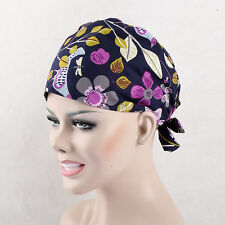 NEW Doctor/Nurses Leaves Petals Printing Skull Cap Surgery Medical Surgical Hat