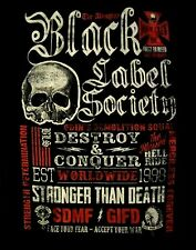 BLACK LABEL SOCIETY cd lgo THE ALMIGHTY / MOTTO COLLAGE Official SHIRT XL New