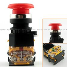 2PCS Mushroom Self-locking Emergency Stop Switch Push Button LA38-11ZS 22mm 380V