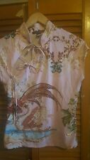 Exquisite Authentic  Roberto cavalli top oriental with charms L uk12 fitted