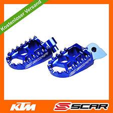 Fußrasten FUSSRASTEN KTM SX SXF SX-F EXC EXC-F 50 65 150 250 350 450 BLAU SCAR