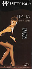 Pretty Polly Italia Fishnet Fashion Tights Black M/L
